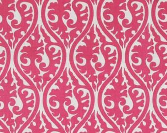"Two 96"" x 50""  Custom Drapes -  Oval Ikat  Swirls - Black/Candy Pink/Chartreuse"