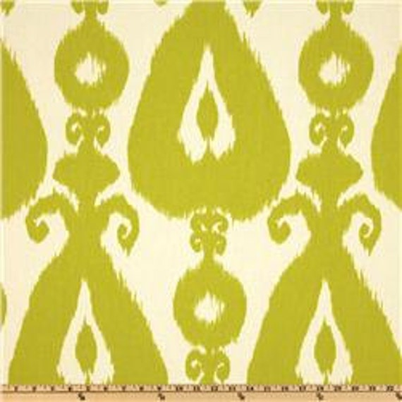 Two 20 x 20  Designer Decorative Pillow Covers - Iskander Ikat - Citrine Lime / Black / Silver Grey