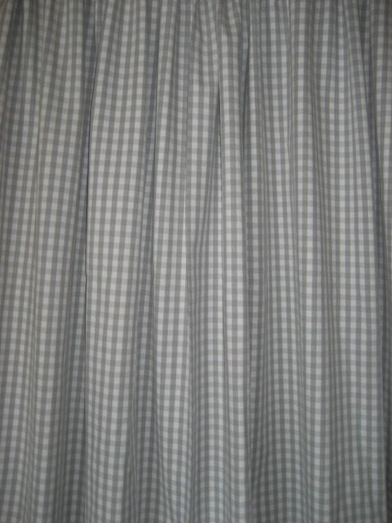 "Two 96"" x50""  Custom Curtain Panels - Grey  Gingham Checks or Pink Gingham Checks"