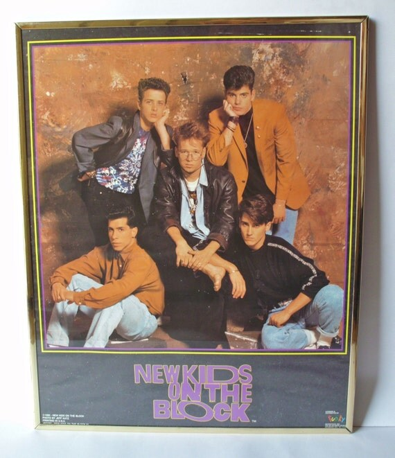 Vintage New Kids On The Block Poster By Poorlittlerobin On Etsy