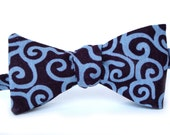 Eggplant Scroll Men's Bow Tie