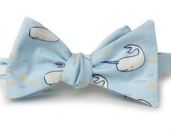 Narwhal Bow Tie