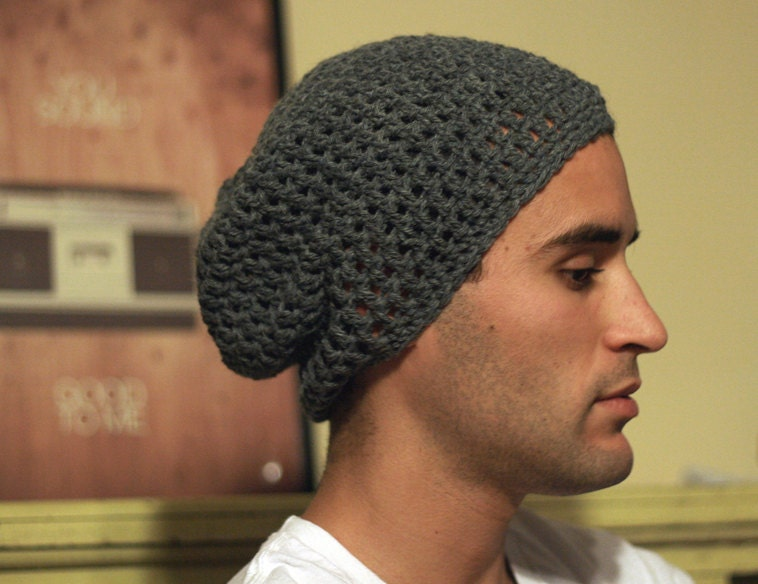 Mens Slouchy Beanie Knit Pattern : PATTERN ONLY: Simple Mens Slouchy Beanie by GreatGraceCrochet