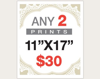 """2 Posters for 30 Dollars -  11""""X17"""""""
