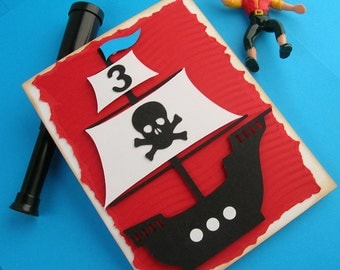 Pirate Ship Birthday Invitation (set of 8)