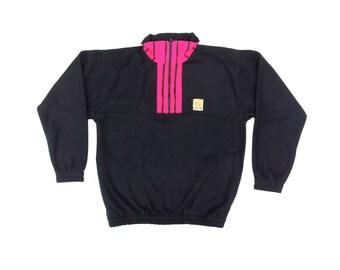 Intense 90s Neon Cultural Explosion Fleece Pullover - L