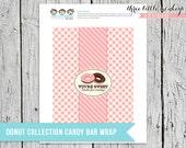 Donut Shop Chocolate Bar Favor Wrapper