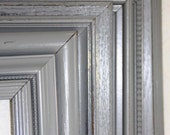 Grey Painted Frame One Classic Grey Hand Painted Distressed Frame Made To Order
