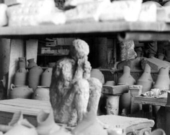Pompeii Italy (II)-- Black and White Film Photograph 20 x 14,3 cm / 8  x 5 1/2 in