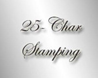 "25 Character STAMPING UPGRADE or 2"" necklace extender"