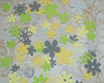 Assorted Cricut Die Cut Flowers / Blooms over 50 pieces Embellishments Made from Citrus  cardstock