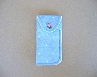 Eyeglass case, Fabric eyeglass case, sunglass case,  case for large eyeglasses