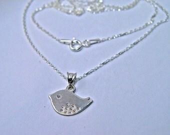 Love bird necklace, bird necklace, bird jewelry, gift for her, silver bird, sterling bird, jewelry, little bird, bird  gift, Christmas gift