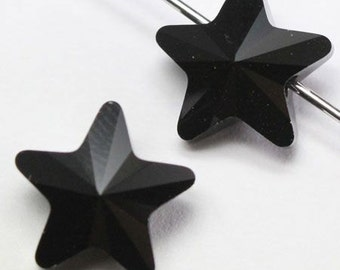 6 pieces Swarovski elements crystal Beads STAR 5714 JET Black - Available in 8mm and 12mm