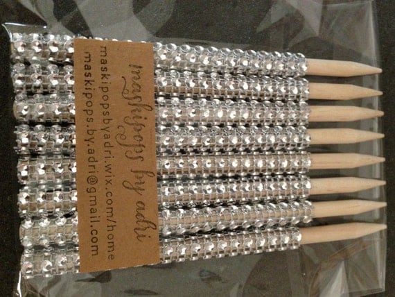 Items Similar To Candy Apple Bling Sticks On Etsy