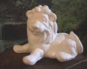 Softee Lion, Softy Lion, Softie Animal, Stuffed Animal, Child decoration, Baby decoration, Kimple, Ready to paint, Ceramic bisque, U-paint