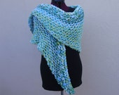 Knit Wrap in Spring Green
