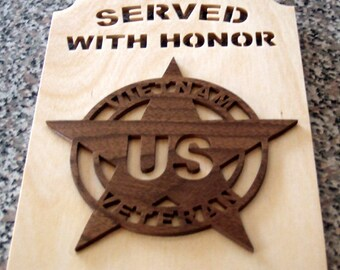 Vietnam Veteran Plaque - Served with Honor