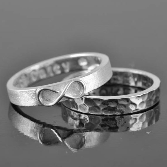 mens wedding band infinity ring infinity knot ring sterling