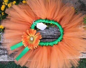 Little Miss Pumpkin pie tutu skirt Great for summer, Fall /Thanksgiving,halloween