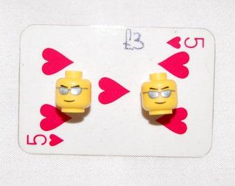 LEGO Head Stud Earring