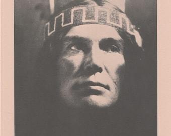 Vintage 1890 - 1910 Chippewa Portraits Native American Indian Print Plate F