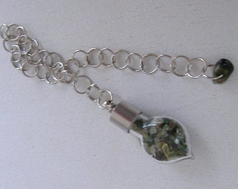 Green Tourmaline Dowsing Pendulum - Stone of Joy, Life's Mysteries, and Enhancing Ones Creativity