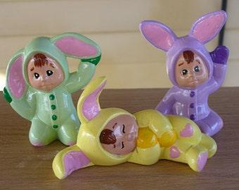 Set of three bunnie kids