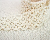 LC24,Punching Shadow Cotton Lace - B type,30mm,1YD