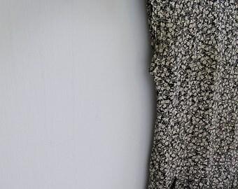 Retro Black and white floral Dress, Summer Midi dress, sleeveless dress, Viscose, Ethnic, Casual, 80s fashion