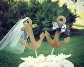 Nautical wedding cake topper-anchor wedding cake topper-beach wedding-nautical wedding-anchor