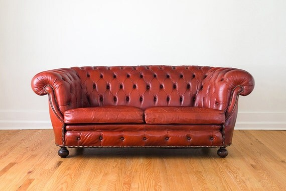 reserved vintage red leather roll arm chesterfield sofa. Black Bedroom Furniture Sets. Home Design Ideas