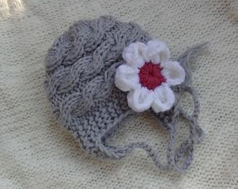 Baby Girl Hats, Photo Prop Hat, Newborn Girl Hat, Knit Newborn Hat, Newborn Knit Hats, Knit Baby Hat, Baby Hats, Photo Prop hat, Flower