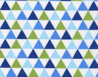 Fat Quarters ONLY - Royal Remix Triangles by Robert Kaufman