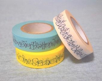 NEW  masking tape 3rolls set (calligraphy hoffmann & Morike 15mm) new item sale
