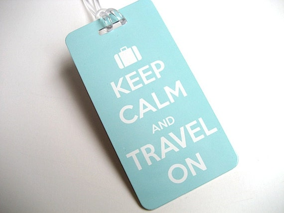 Luggage Tag 3-pack Keep Calm and Travel On Luggage Tag