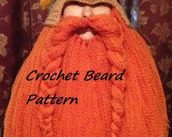 Crochet Viking Hat And Beard Pattern : Crocheted Viking Dwarf Hat with Beard Made to by ...