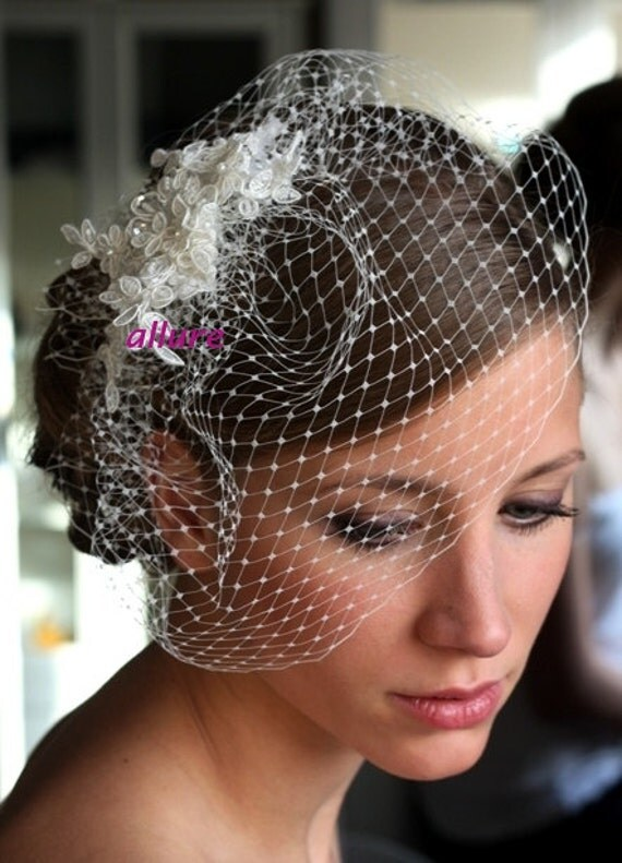 Items Similar To Wedding Veil BIRDCAGE VEIL Bridal Veil Romantic Bird Cagebridal Fascinator