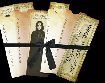 Three Severus Snape bookmarks and envelope digital collage sheet. DIGITAL DOWNLOAD