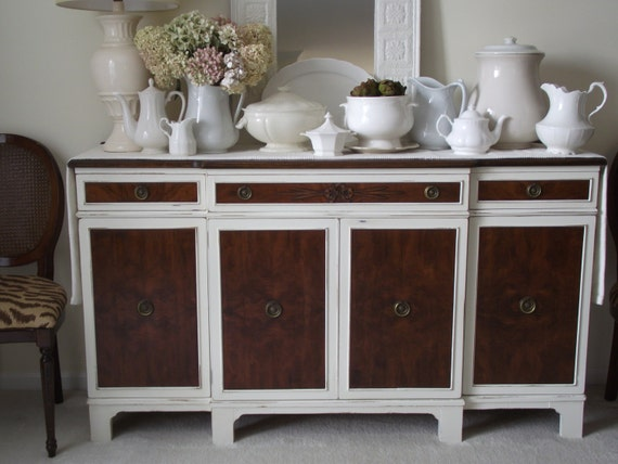 Items Similar To Vintage French Country Dining Room Buffet Media Console On Etsy