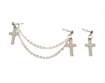 Cross Double Piercing Set