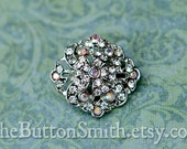 Rhinestone Buttons -Anastasia- (22x20mm) RS-050 - 5 piece set