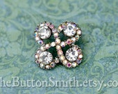 "Rhinestone Buttons ""Aubree"" (18mm) RS-046 - 5 piece set"