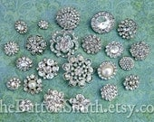 Rhinestone Buttons Mix - Popular Collection - 101- 30 piece set