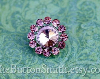 Rhinestone Buttons -Juliet- (20mm) RS-008 in Pink - 20 piece set