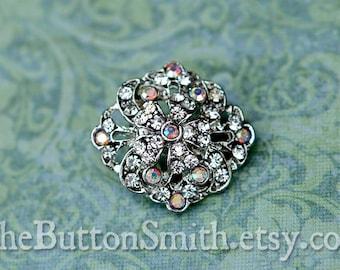Rhinestone Buttons -Anastasia- (22x20mm) RS-050 - 20 piece set
