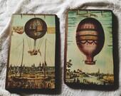 Vintage Hot Air Balloon Art