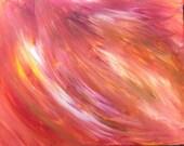 Burning Desire original acrylic painting