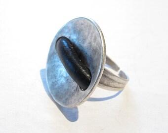 Metal-silver ring