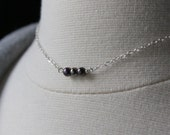 Purple Pearl Necklace - Sterling Silver - Little Freshwater Pearl Necklace